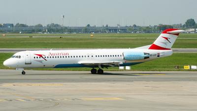 OE-LVF - Fokker 100 - Austrian Airlines