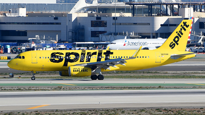 A picture of N695NK - Airbus A320232 - Spirit Airlines - © Rocky Wang