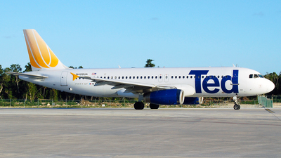 N408UA - Airbus A320-232 - Ted