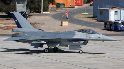 753 - General Dynamics F-16A Fighting Falcon - Chile - Air Force