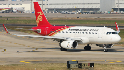 A picture of B1016 - Airbus A319133 - Shenzhen Airlines - © Edward Fan