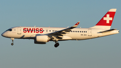 HB-JBA - Bombardier CSeries CS100 - Swiss