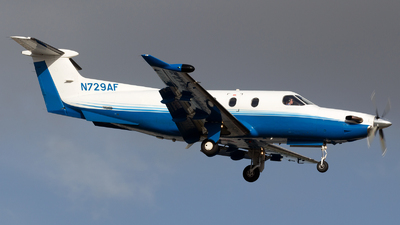 A picture of N729AF - Pilatus PC12/47 - PlaneSense - © Sandra