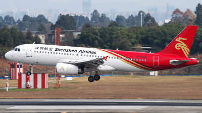 A picture of B6691 - Airbus A320232 - Shenzhen Airlines - © baobao723
