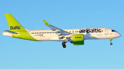 A picture of YLCSF - Airbus A220300 - Air Baltic - © Laszlo Fekete