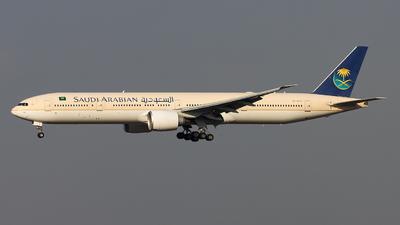 A picture of HZAK13 - Boeing 777368(ER) - Saudia - © M. Umar Aziz