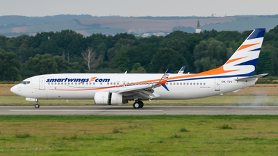 A picture of OKTVV - Boeing 73786N - Smartwings - © LukᚠVardžák