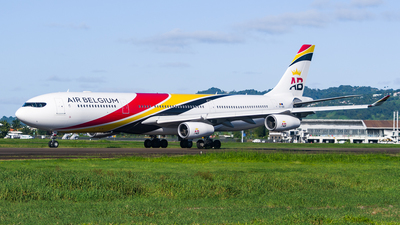 A picture of OOABB - Airbus A340313 - Air Belgium - © Maxime CERTAIN-MESSAGER