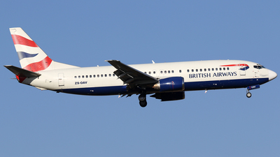 ZS-OAV - Boeing 737-4H6 - British Airways (Comair)