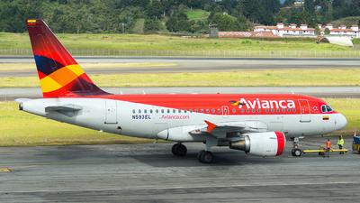 N593EL - Airbus A318-111 - Avianca
