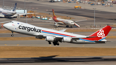 A picture of LXVCN - Boeing 7478R7(F) - Cargolux - © Jubilant Chan - AHKGAP