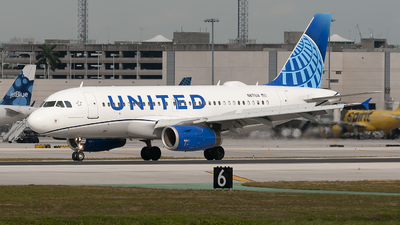 A picture of N871UA - Airbus A319132 - United Airlines - © Mark Lawrence