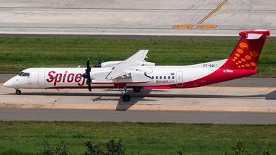 A picture of VTSQI - De Havilland Canada Dash 8400 - SpiceJet - © Sandeep Pilania