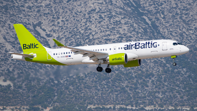 A picture of YLAAU - Airbus A220300 - Air Baltic - © John Leivaditis