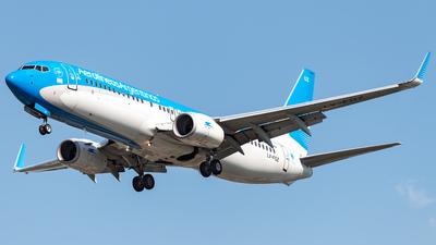 A picture of LVFQZ - Boeing 7378BK - Aerolineas Argentinas - © Flavio García Photos