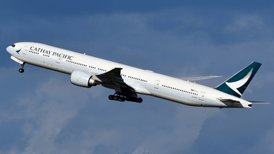 A picture of BKPQ - Boeing 777367(ER) - Cathay Pacific - © Abram Chan - AirTeamImages
