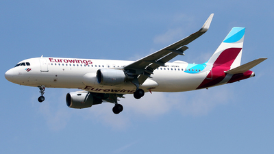A picture of DAEWN - Airbus A320214 - Eurowings - © Javier Rodriguez - Amics de Son Sant Joan