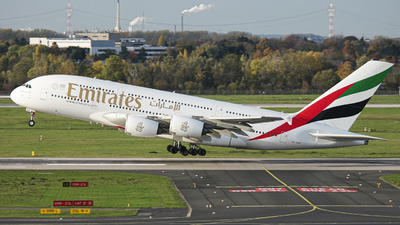 A picture of A6EOX - Airbus A380861 - Emirates - © Luiza M.