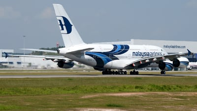 A picture of 9MMNE - Airbus A380841 - Malaysia Airlines - © Vicknesh PS