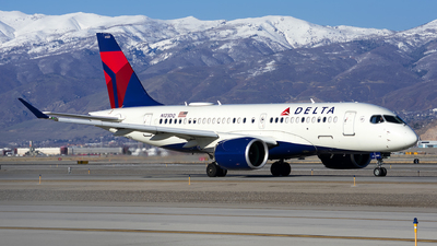 A picture of N123DQ - Airbus A220100 - Delta Air Lines - © Michael Rodeback