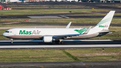 A picture of N420LA - Boeing 767316F(ER) - MasAir Cargo Airline - © Hector Montes de Oca