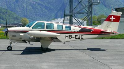 HB-EJE - Beechcraft A36TC Bonanza - Private