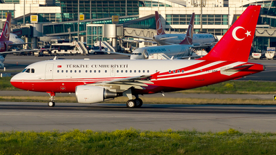 TC-ANK - Airbus A319-115(CJ) - Turkey - Government