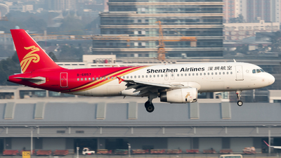 A picture of B6857 - Airbus A320232 - Shenzhen Airlines - © ShirokaneRinko