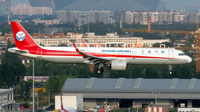 A picture of B1056 - Airbus A321271N - Sichuan Airlines - © TPS00