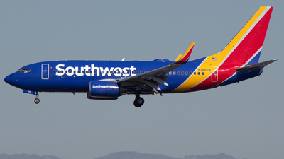 A picture of N748SW - Boeing 7377H4 - Southwest Airlines - © PAUL LINK
