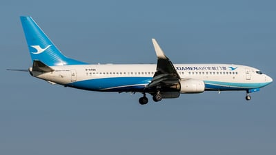 A picture of B6486 - Boeing 73785C - Xiamen Air - © AndySpotter
