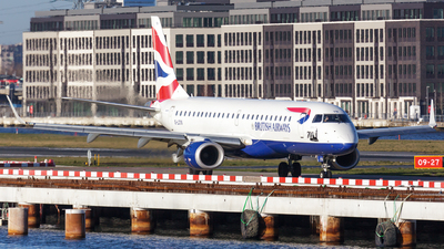 A picture of GLCYN - Embraer E190SR - British Airways - © SlowhanD