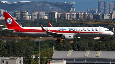A picture of B8601 - Airbus A321211 - Sichuan Airlines - © SZ4509