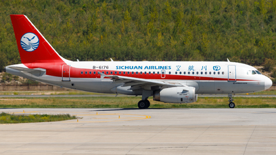 A picture of B6176 - Airbus A319133 - Sichuan Airlines - © H.C.