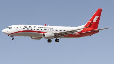 A picture of B1741 - Boeing 73786D - Shanghai Airlines - © Yan Shuai