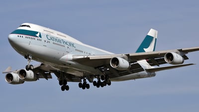 B-HUJ - Boeing 747-467 - Cathay Pacific Airways