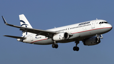 A picture of SXDNE - Airbus A320232 - Aegean Airlines - © Peter Baldwin