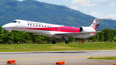 A picture of HL8054 - Embraer ERJ145EP - Korea Express Air - © Shimizu Brothers