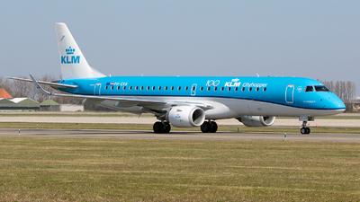 A picture of PHEXB - Embraer E190STD - KLM - © Freek Blokzijl