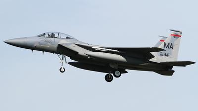 85-0134 - McDonnell Douglas F-15D Eagle - United States - US Air Force (USAF)