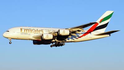 A picture of A6EEU - Airbus A380861 - Emirates - © Kazuchika Naya