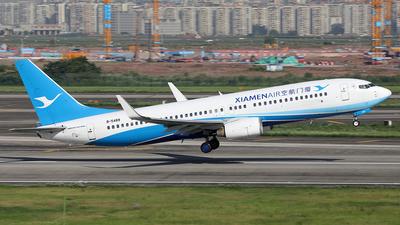 A picture of B5489 - Boeing 73785C - Xiamen Air - © YIJING HOU