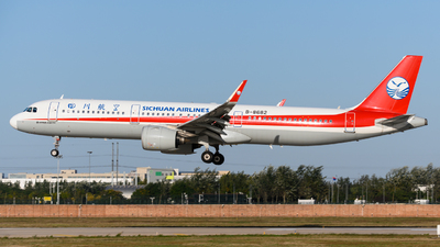 A picture of B8682 - Airbus A321271N - Sichuan Airlines - © Eric Xiao
