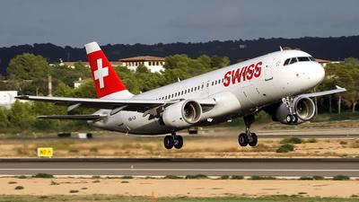 A picture of HBIJI - Airbus A320214 - Swiss - © Javier Rodriguez - Amics de Son Sant Joan