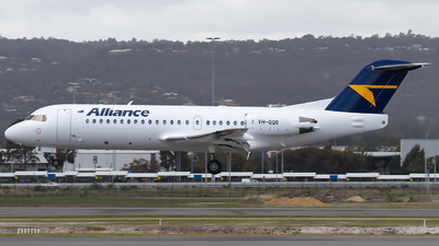A picture of VHQQR - Fokker 70 - Alliance Airlines - © Dave Parer