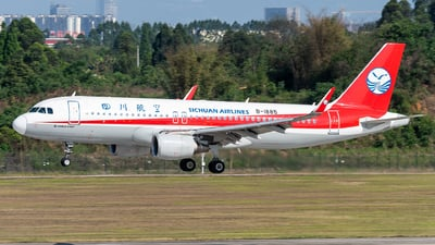 A picture of B1885 - Airbus A320214 - Sichuan Airlines - © DY-76
