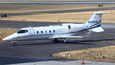 A picture of N824LM - Learjet 60 - [410] - © Agustin Anaya