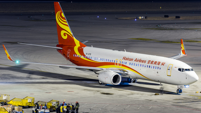 A picture of B1375 - Boeing 73784P - Hainan Airlines - © Zhou Qiming