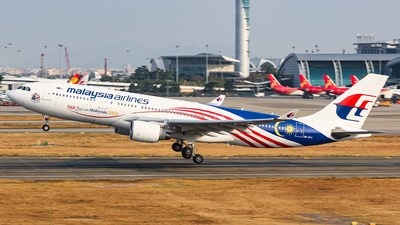 A picture of 9MMTX - Airbus A330223 - Malaysia Airlines - © kuailedeann