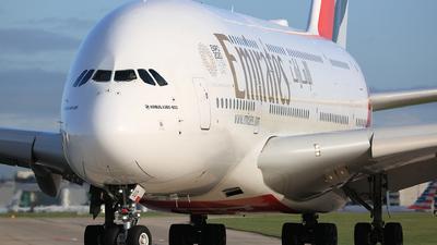 A picture of A6EUQ - Airbus A380842 - Emirates - © Jason CDHK